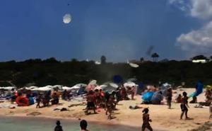 Un remolino de viento de 20 metros de altura causa pánico en Menorca