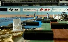 Las obras del Velódromo de Anoeta siguen a buen ritmo