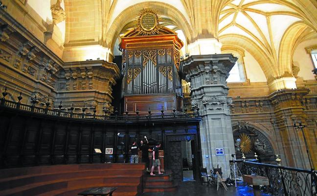 El órgano de la basílica de Santa María será restaurado durante los dos próximos años
