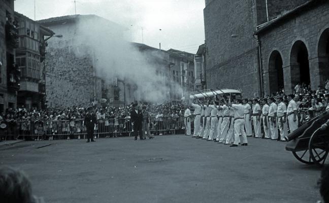 La representación del Alarde del Moro, en 1973