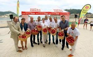 20.000 piezas de fruta para repartir por las playas guipuzcoanas