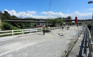 El puente de Astiñene se cerrará por completo hoy y mañana