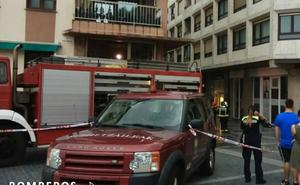 Un incendio originado en un deshumidificador causa daños materiales en un local de yoga en Zarautz