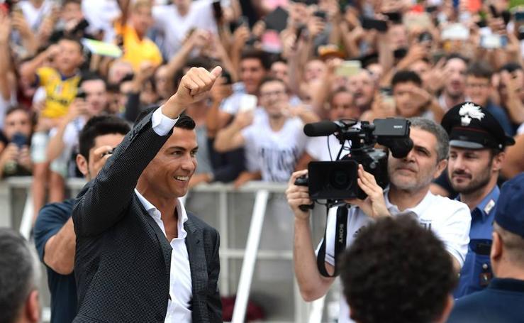 Cristiano enfervoriza a los 'tifosi' de la Juventus
