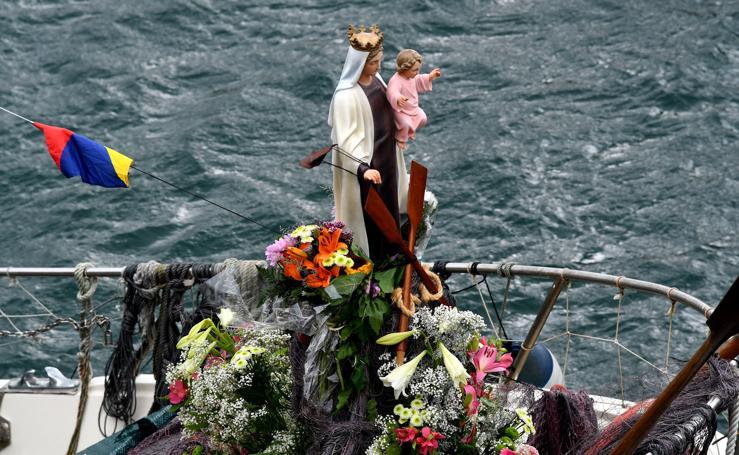 El día de la Virgen del Carmen en Donostia, en imágenes