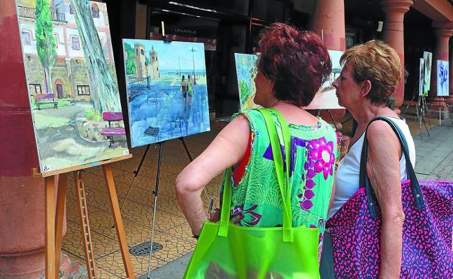 José Reyes, de Leioa, fue el ganador del Concurso de Pintura al Aire Libre