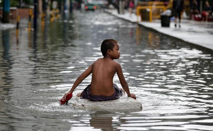 Inundaciones por el paso de una tormenta en Filipinas