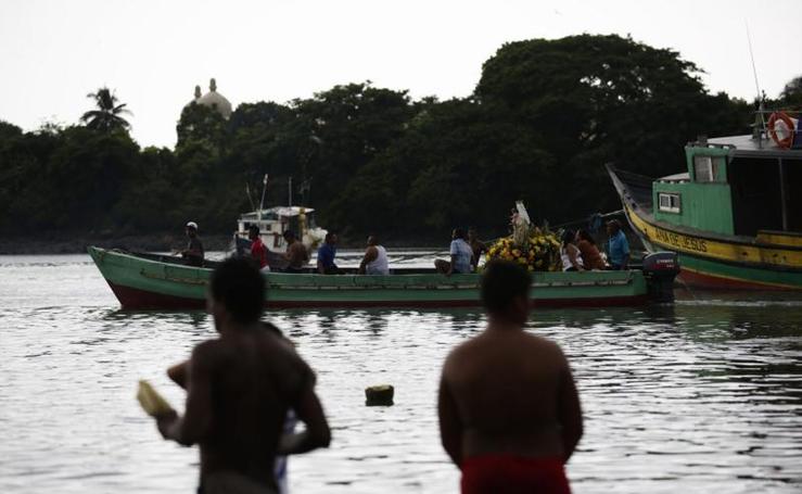 Celebración del Día de la Virgen del Carmen en Panamá