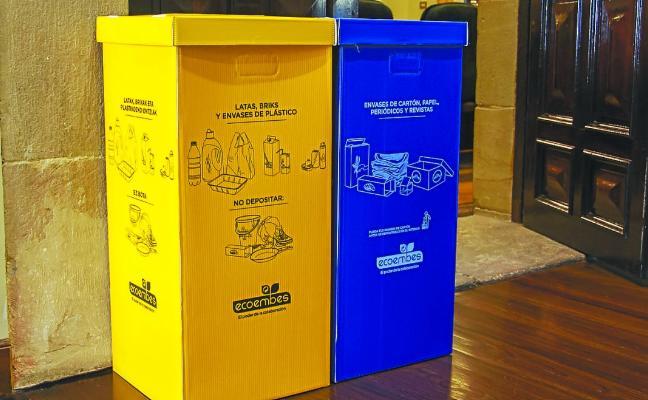 La Mancomunidad instala 184 cubos para la recogida de envases y papel