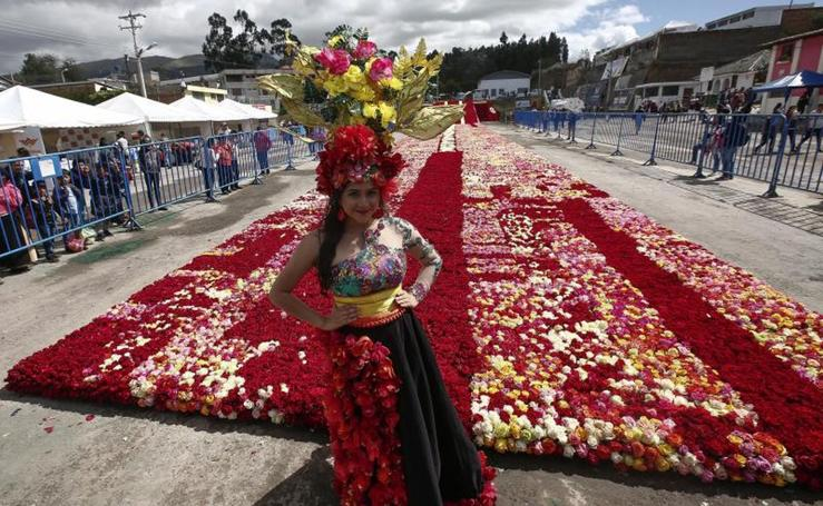 El récord Guinness de rosas en Ecuador
