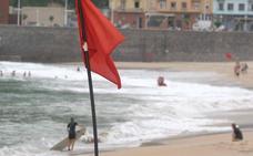 Tres banderas rojas en las playas de Gipuzkoa por la calidad del agua