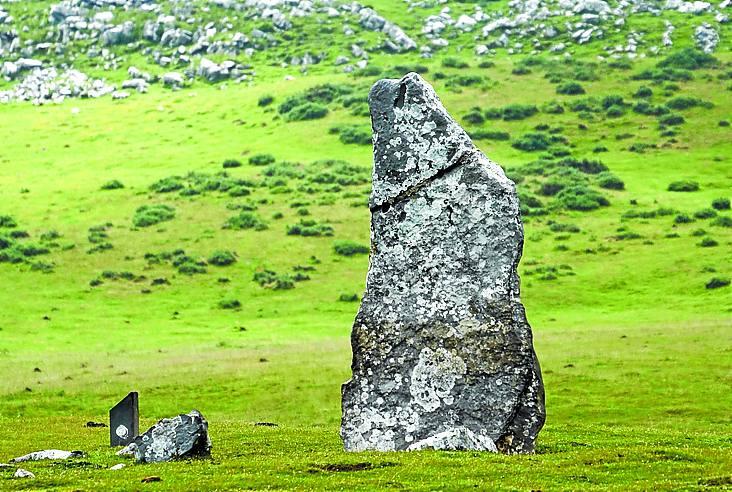 Un menhir, varios dólmenes y un crómlech en un palmo de terreno