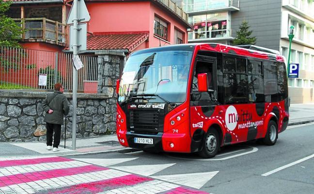El servicio del autobús urbano del Manttangorri funcionará en agosto