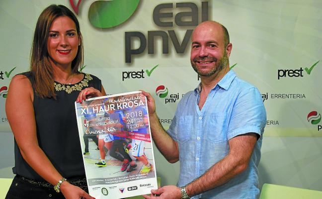 El PNV homenajea a Ereintza Eskubaloia en el XI Cross Infantil de Madalenas