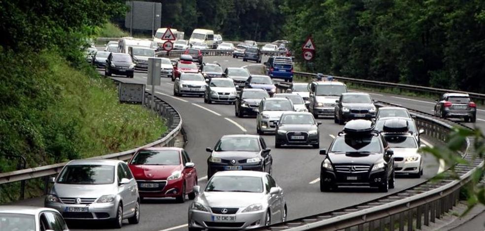 Normalidad en las carreteras de Gipuzkoa tras desaparecer las retenciones por la operación salida