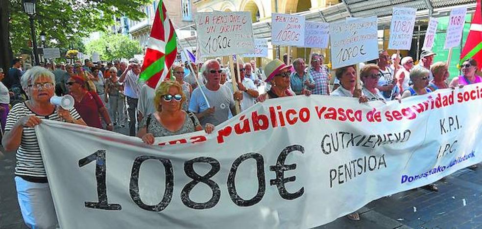 Los pensionistas vascos plantan a la plataforma estatal para negociar directamente con Madrid