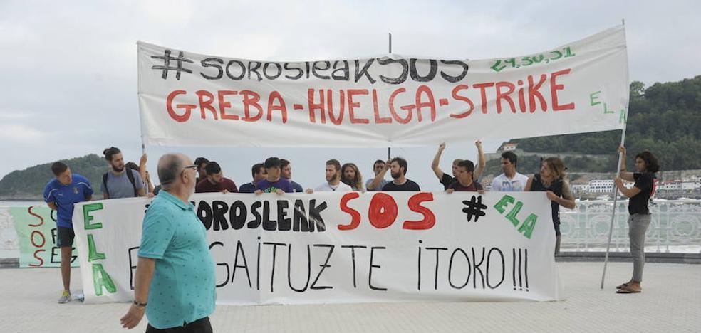 Los socorristas guipuzcoanos llevarán a cabo una huelga indefinida a partir del día 14