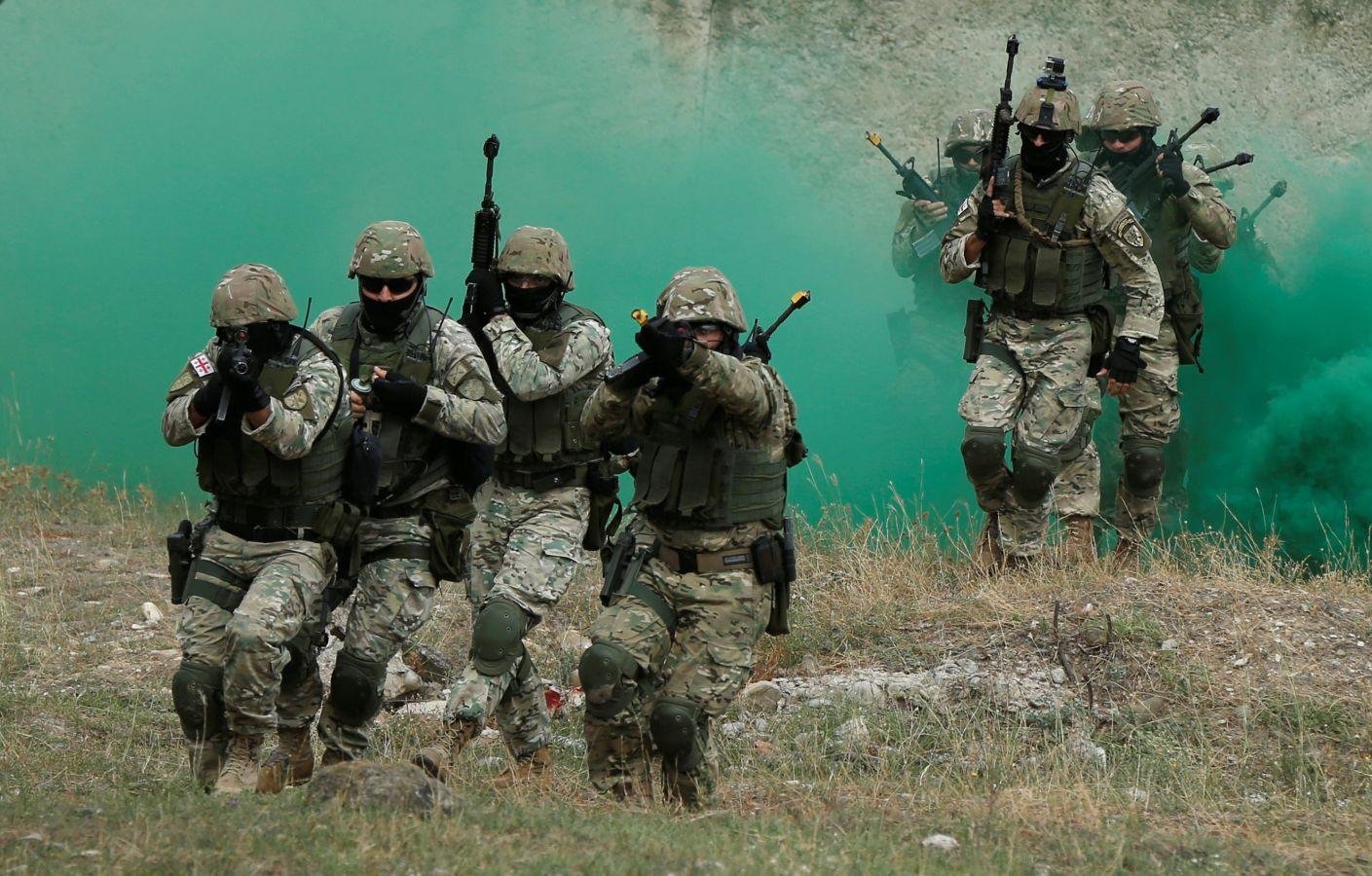 El duro entrenamiento militar