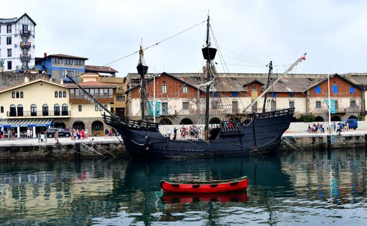 Getaria se vuelca con el desembarco de Elcano