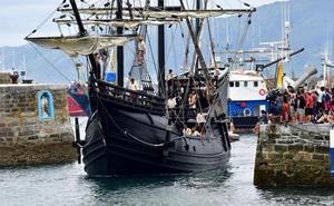 Elcano llega a Getaria en su nao victoria