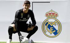 La presentación de Courtois con el Real Madrid, en imágenes