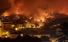 El Algarve portugués, en llamas