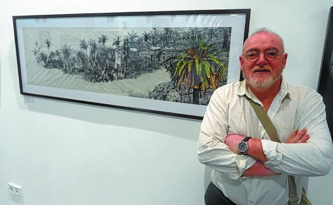 Jesús Montoia ofrece su visión del mundo en la muestra de Merkatu plaza