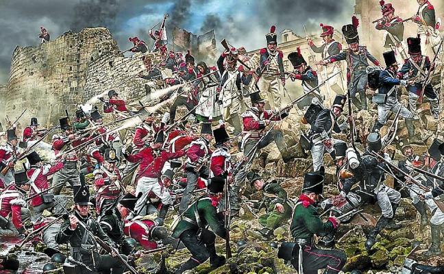 Una lámina fotográfica recrea la defensa de la brecha de 1813