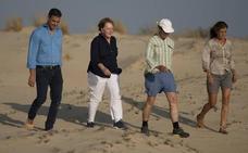 Historia, protestas y langostinos: así ha sido la visita de Merkel a Sanlúcar