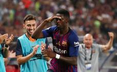 Dembélé da la Supercopa al Barça
