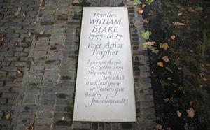Admiradores de William Blake hallan su tumba en Londres