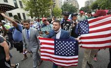 Los neonazis marchan en Washington un año después de Charlottesville