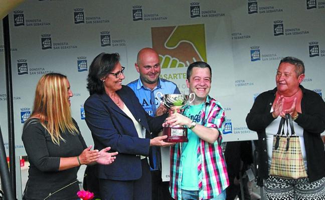 El premio Ayto. de Lasarte-Oria en la jornada de la 50 Copa de Oro