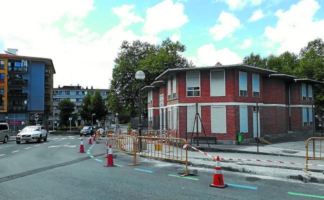 Comienzan en la calle Lesaka las nuevas obras para mejorar el alumbrado público