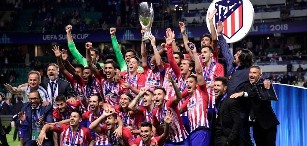 El Atlético por fin sonríe en Europa ante su vecino