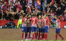 Golazo de Saúl para poner al Atlético por delante