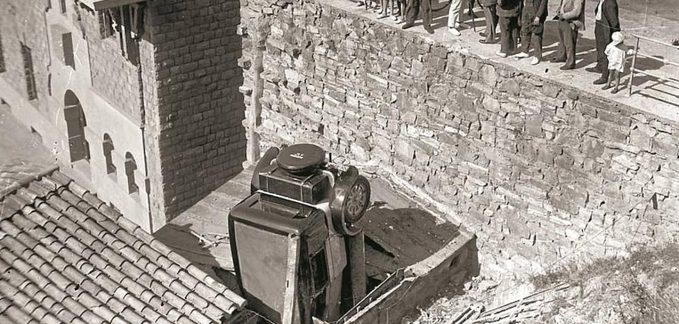 La vagoneta de 1923 que chocó contra un autobús en Herrera
