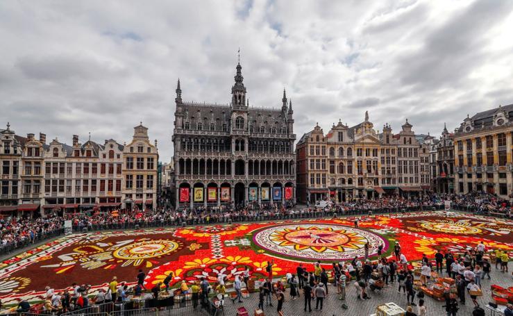 Un tapiz de flores gigante en Bruselas