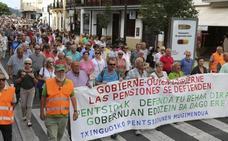Clamor por las pensiones en Txingudi