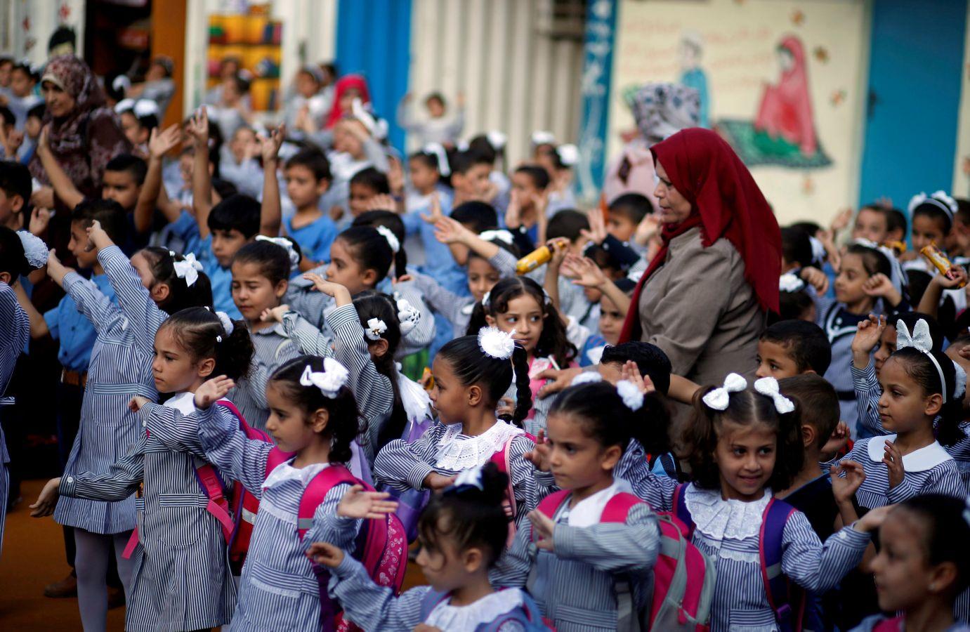 Primer día de colegio en Gaza