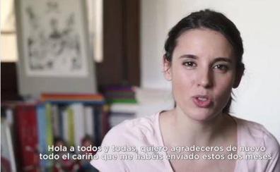 Irene Montero reaparece en Instagram dos meses después de dar a luz