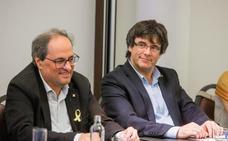 Torra dice estar dispuesto a «llegar tan lejos como Puigdemont»