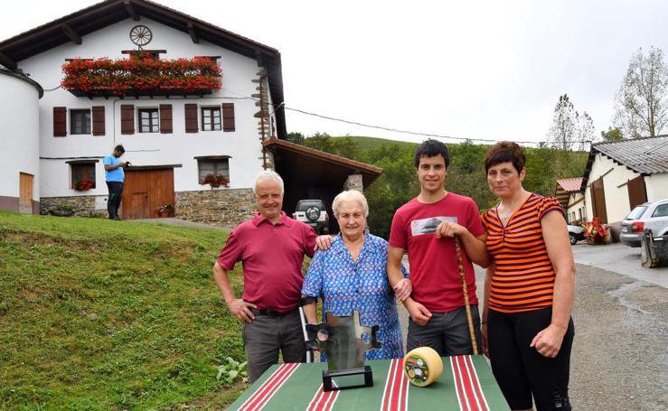En casa del campeón de Ordizia
