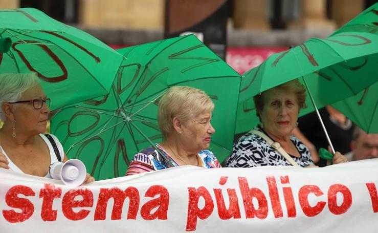 Los pensionistas donostiarras vuelven a movilizarse