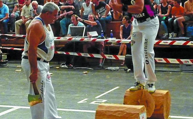 Eliminatoria del campeonato navarro de aizkora de primera categoría