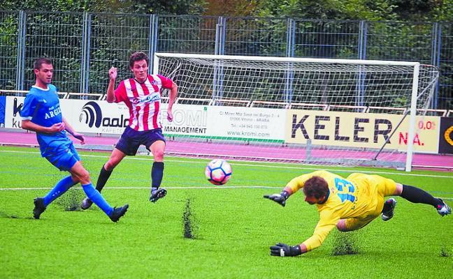 Un gol en el descuento del Tolosa CF privó de la victoria al Haundi en Mintxeta