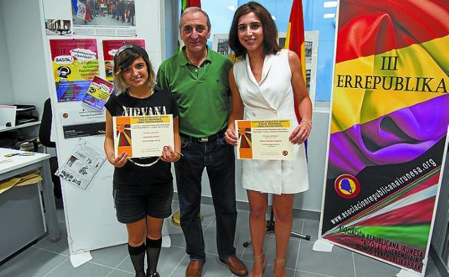 La irundarra Naroa González se lleva el décimo Concurso Literario Republicano