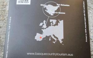 El Gobierno Vasco retira más de 20.000 folletos que sitúan a Euskadi en Cuenca
