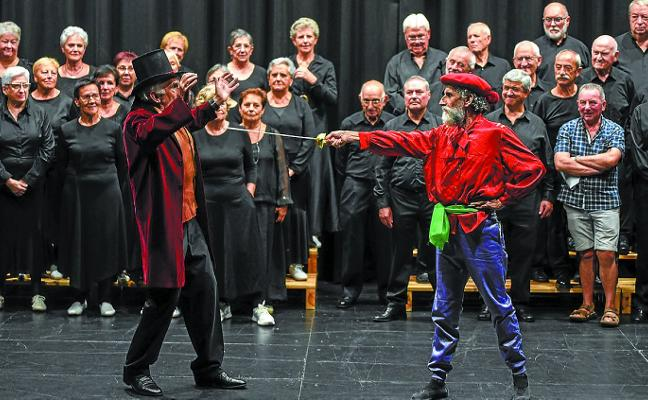 Concierto teatralizado esta tarde participando los coros Goiz Eguzki y Ozenki
