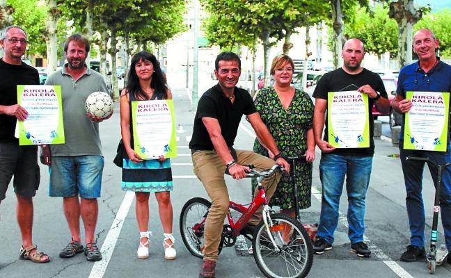 Kirola Kalera protagoniza mañana las actividades del 'Día sin coche'